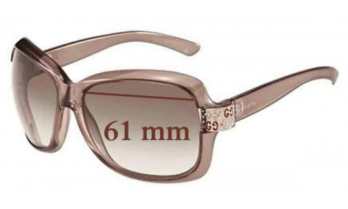 Sunglass Fix Sunglass Replacement Lenses for Gucci GG 2985/S - 61mm Wide