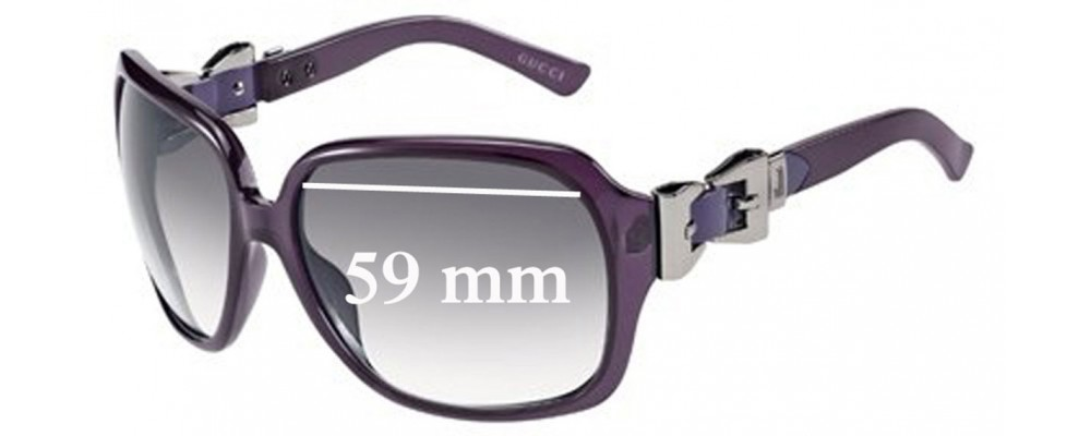 Sunglass Fix Replacement Lenses for Gucci GG3006/S - 59mm Wide