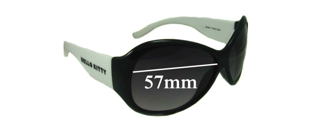 Sunglass Fix Sunglass Replacement Lenses for Hello Kitty 6104 - 57mm Wide