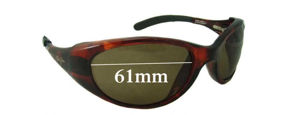 Sunglass Fix Sunglass Replacement Lenses for Maui Jim Volcano MJ142 - 61mm Wide