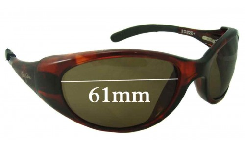 Sunglass Fix Sunglass Replacement Lenses for Maui Jim Volcano MJ142 - 61mm Wide