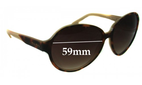 Sunglass Fix Sunglass Replacement Lenses for Miu Miu SMU16L - 59mm Wide