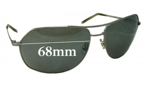 Sunglass Fix Sunglass Replacement Lenses for Morgenthal Frederics Super Stealth - 68mm Wide
