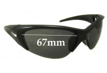 Sunglass Fix Sunglass Replacement Lenses for Nike Undermine EV0258 - 67mm Wide