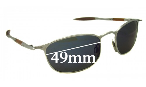 Sunglass Fix Sunglass Replacement Lenses for Oakley OO Square - 49mm Wide