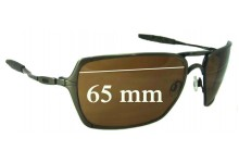 Sunglass Fix Sunglass Replacement Lenses for Oakley Inmate - 65mm Wide
