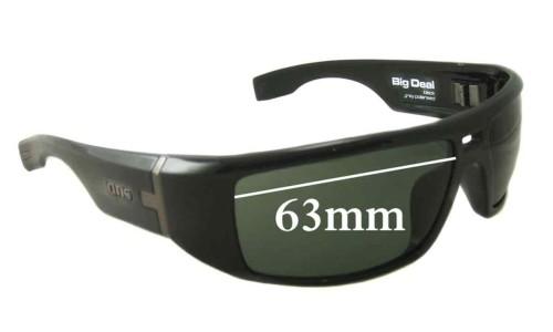 Sunglass Fix Sunglass Replacement Lenses for Otis Big Deal - 63mm Wide