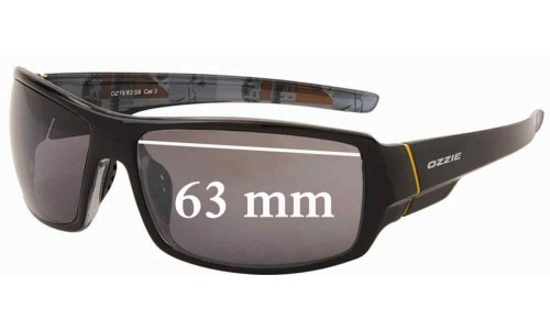 Sunglass Fix Sunglass Replacement Lenses for OZZIE OZ19:63 - 63mm Wide