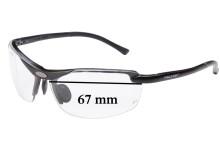 Sunglass Fix Sunglass Replacement Lenses for Peltor LE400 - 67mm Wide
