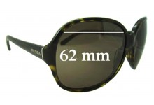Sunglass Fix Sunglass Replacement Lenses for Prada SPR26L - 62mm Wide