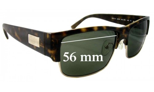 Sunglass Fix Sunglass Replacement Lenses for Prada SPR11M - 56mm Wide