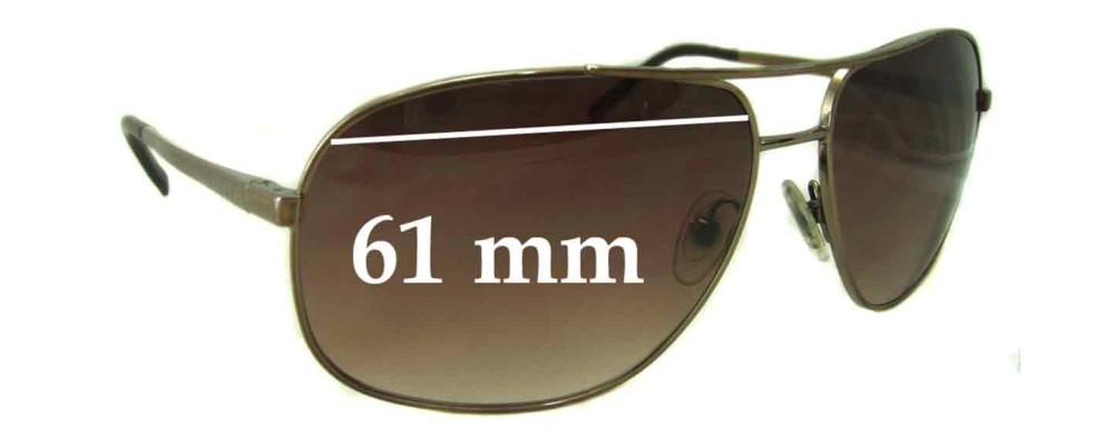 Sunglass Fix Sunglass Replacement Lenses for Prada SPR53M - 61mm Wide