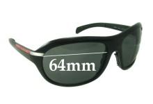 Sunglass Fix Sunglass Replacement Lenses for Prada SPS04I - 64mm Wide