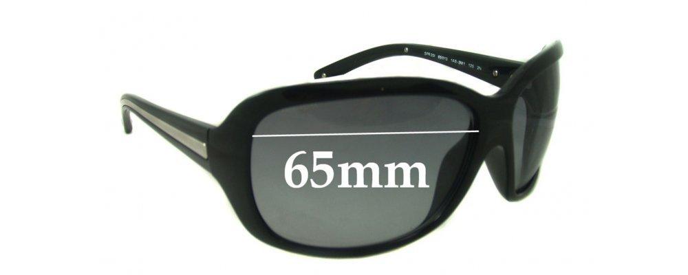 Sunglass Fix Sunglass Replacement Lenses for Prada SPR20I - 65mm Wide