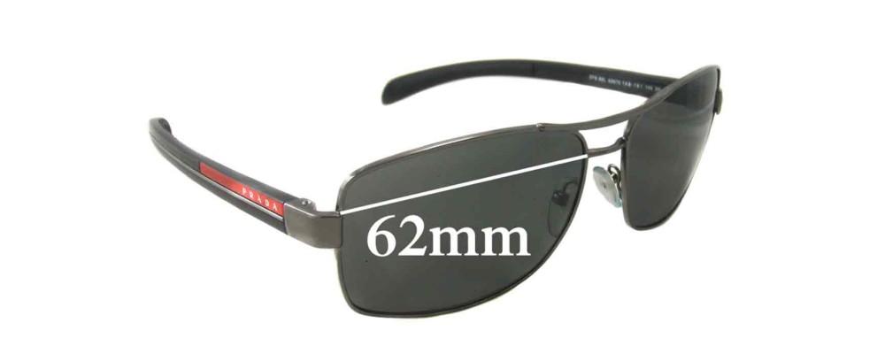 Sunglass Fix Sunglass Replacement Lenses for Prada SPS50L - 62mm Wide