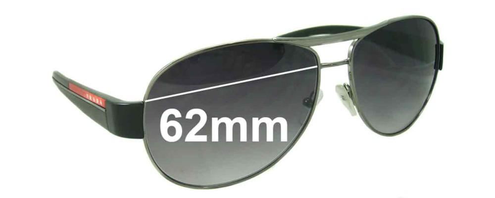 ec3569ec8914c Prada SPS51L Replacement Lenses 62MM Wide by The Sunglass Fix® Australia