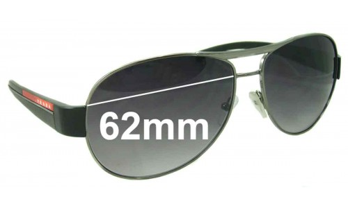 Sunglass Fix Sunglass Replacement Lenses for Prada SPS51L 62MM Wide