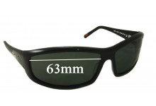 Sunglass Fix Sunglass Replacement Lenses for R.M. Williams PA701 - 63mm Wide