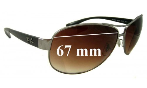 Sunglass Fix Sunglass Replacement Lenses for Ray Ban RB3386 - 67mm wide