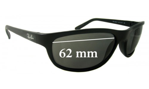 Sunglass Fix Sunglass Replacement Lenses for Ray Ban RB4158-E - 62mm Wide