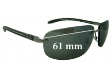 Sunglass Fix Sunglass Replacement Lenses for Ray Ban RB8303 Tech - 61mm Wide