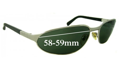 Sunglass Fix Sunglass Replacement Lenses for Ray Ban RB3107 - 58-59mm wide lenses