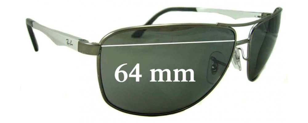 ray ban sun  Ban RB3506 Sunglass Replacement Lenses - 64mm Wide