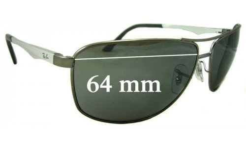 Sunglass Fix Sunglass Replacement Lenses for Ray Ban RB3506 - 64mm Wide