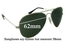 097b64b6ae3 Sunglass Fix Sunglass Replacement Lenses for Ray Ban RB1103 Bausch Lomb - 62mm  Wide