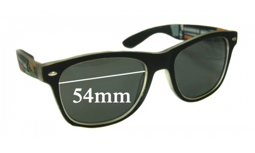 Sunglass Fix Sunglass Replacement Lenses for Ray Ban RB2200 Wayfarer - 54mm wide