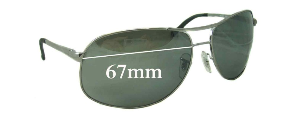 73991e4f3 Sunglass Fix Sunglass Replacement Lenses for Ray Ban RB3387 - 67mm wide