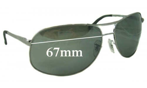 Sunglass Fix Sunglass Replacement Lenses for Ray Ban RB3387 - 67mm Wide