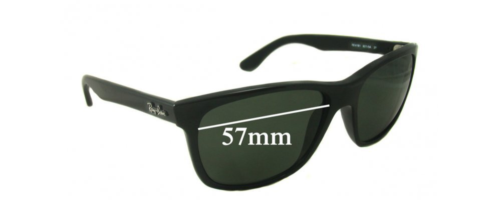 40061b0857 Ray Ban RB4181 Sunglass Replacement Lenses - 57mm wide lenses ...