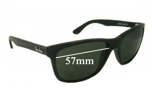 Sunglass Fix Sunglass Replacement Lenses for Ray Ban RB4181 - 57mm wide lenses