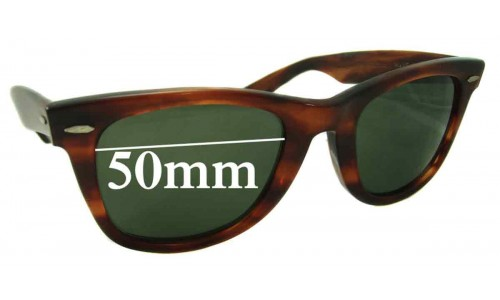 Sunglass Fix Sunglass Replacement Lenses for Ray Ban B&L Wayfarer - 50mm Wide