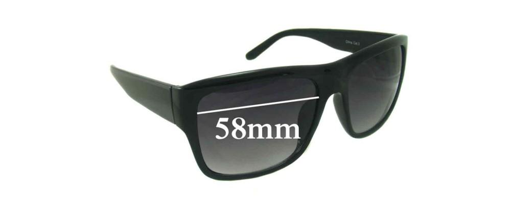 Sunglass Fix Sunglass Replacement Lenses for Redemption A-Z208 - 58mm Wide