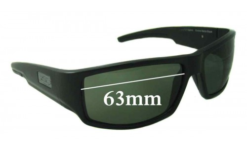 Sunglass Fix Sunglass Replacement Lenses for Smith Lockwood 63mm Wide