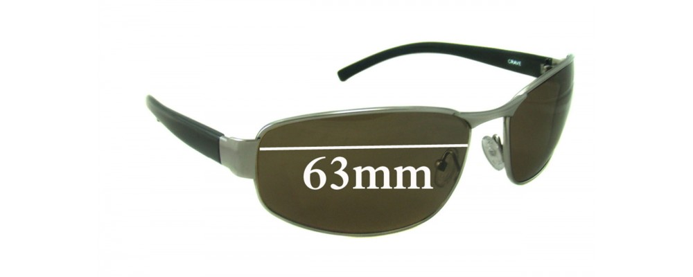 29961fa929a3 Spotters Crave Sunglass Replacement Lenses - 63mm wide