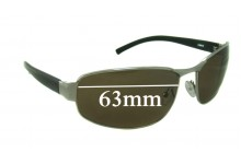 Sunglass Fix Sunglass Replacement Lenses for Spotters Crave - 63mm Wide