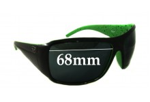 Sunglass Fix Sunglass Replacement Lenses for Unknown Sunglass Model 68mm Wide