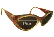 Sunglass Fix Sunglass Replacement Lenses for Christian Lacroix 7390 - 57mm Wide