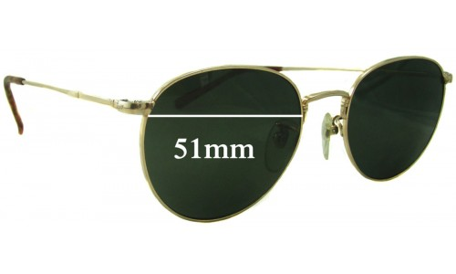 Sunglass Fix Sunglass Replacement Lenses for Ray Ban B&L John Lennon JL213 - 51mm Wide