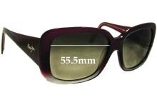 Sunglass Fix Sunglass Replacement Lenses for Maui Jim Lani MJ239 - 55.5mm Wide