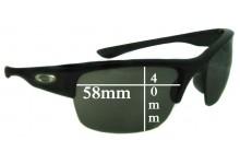 Sunglass Fix Sunglass Replacement Lenses for Oakley Bottlecap XL - 58mm Wide x 40mm Tall