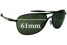 Sunglass Fix Sunglass Replacement Lenses for Oakley Crosshair 3 OO6014 - 61mm Wide