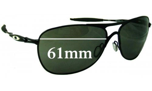 Sunglass Fix Sunglass Replacement Lenses for Oakley Crosshair New 3 OO4060 - 61mm wide