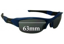 Sunglass Fix Sunglass Replacement Lenses for Oakley Flak - 63mm Wide