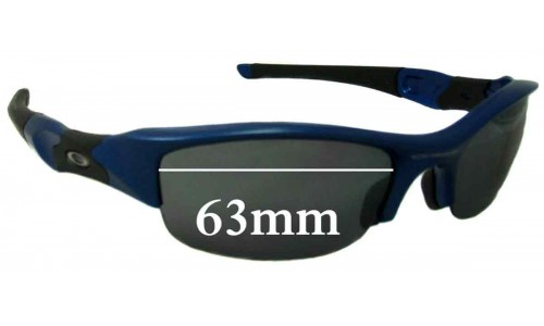 Sunglass Fix Sunglass Replacement Lenses for Oakley Flak Jacket - 63mm Wide