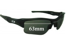 Sunglass Fix Sunglass Replacement Lenses for Oakley Flak XLJ - 63mm Wide