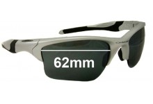Sunglass Fix Sunglass Replacement Lenses for Oakley Half Jacket 2.0 XL OO9154 - 62mm Wide